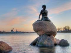 Little Mermaid Statue in Copenhagen