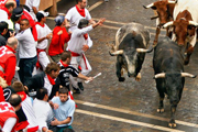Pamplona Running of The Bulls